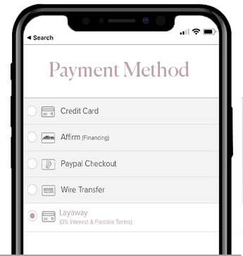 Choose Layaway as Payment Method