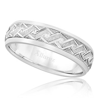 Mens Carved Wedding Bands