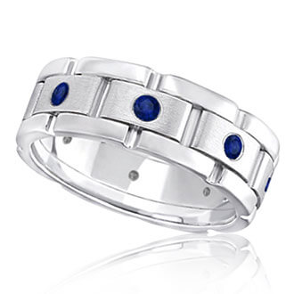 Mens Gemstone Wedding Bands