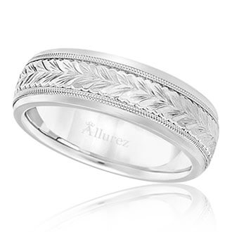 Mens Hand Engraved Eedding Bands