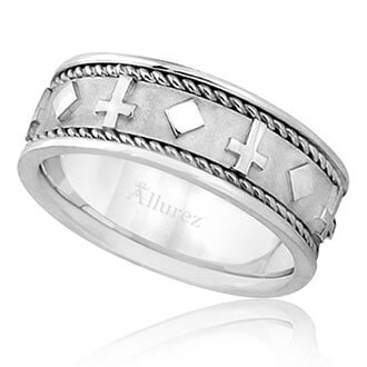 Mens Religious Wedding Bands