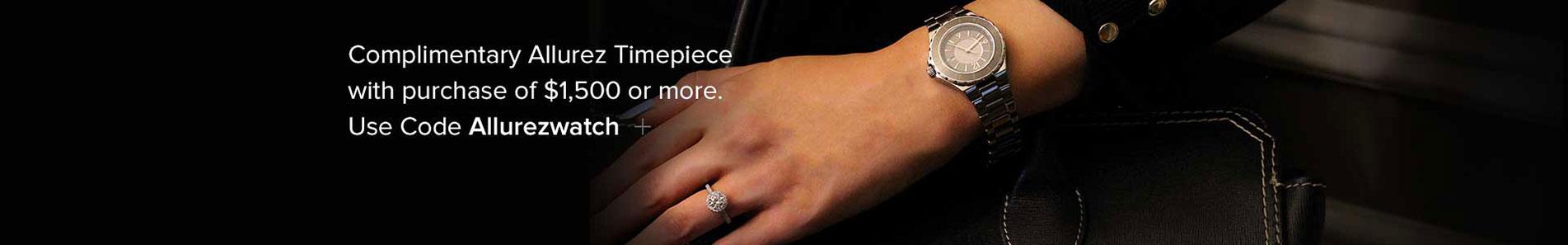 Free Complimentary Allurez Timepiece