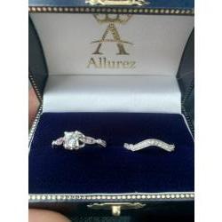 Engagement ring, her wedding ring