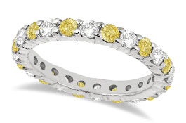 Womens Colored Diamond Wedding Bands