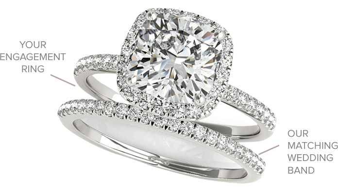 Match Your Engagement Rings And Wedding Bands