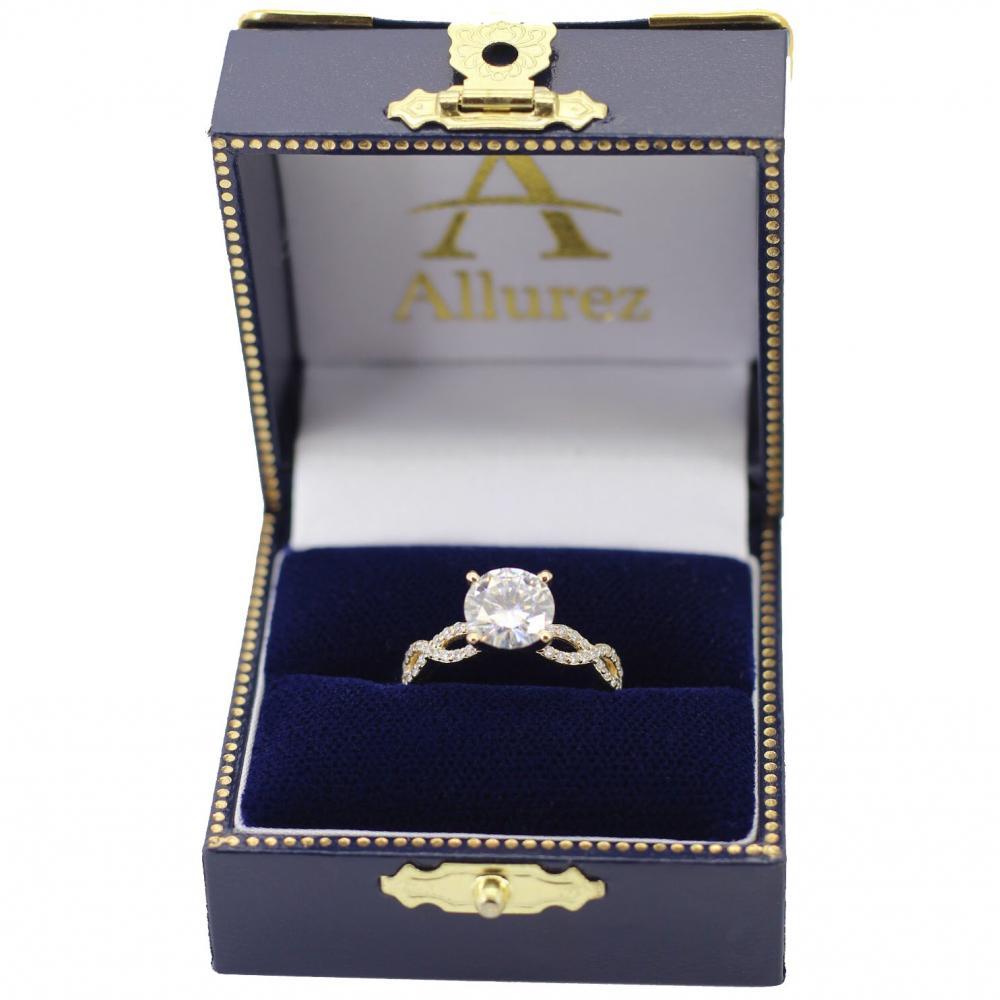 Twisted Infinity Diamond Engagement Ring Setting 14K Yellow Gold (0.21ct)