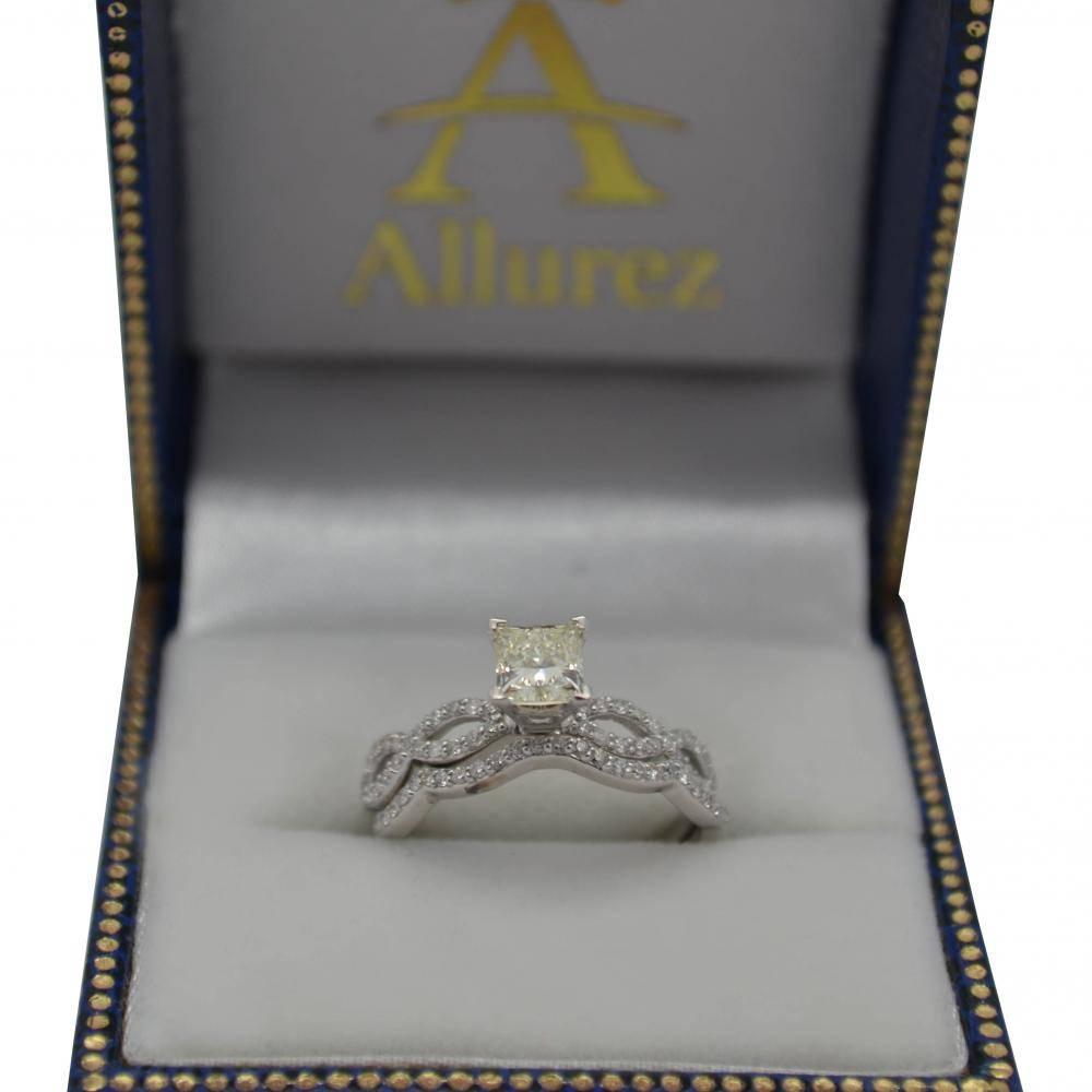 Infinity Twisted Diamond Matching Bridal Set 14K White Gold (0.34ct)