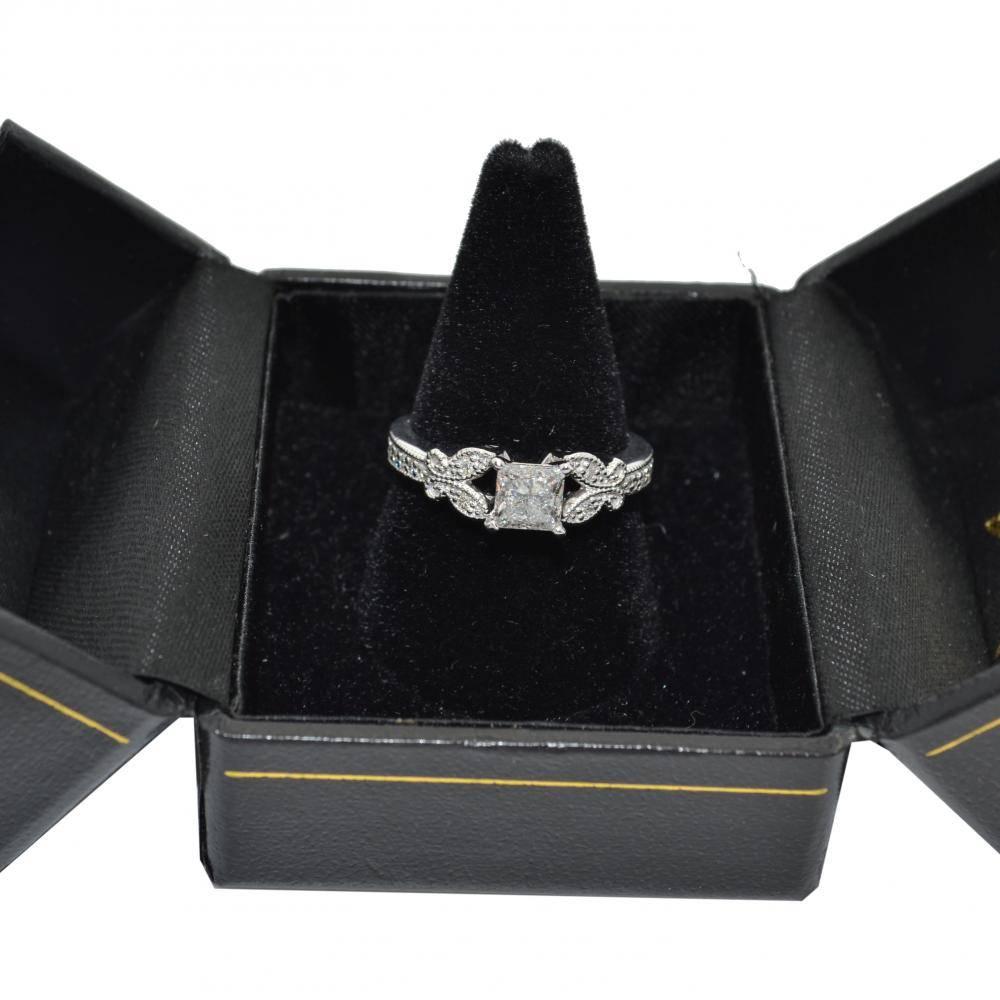 Butterfly Diamond Engagement Ring Setting Palladium (0.20ct)