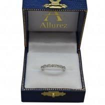 Vintage Marquise Shaped Diamond Wedding Band 14k White Gold (0.10ct)