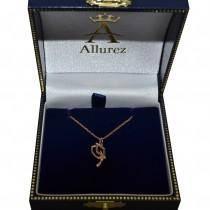 Graduation Cap Charm Pendant Necklace Plain Metal 14k Rose Gold