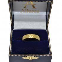 Men's Wedding Ring Dome Comfort-Fit Milgrain 18k Yellow Gold (5 mm)