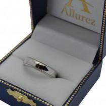 Men's Wedding Band Dome Comfort-Fit Milgrain 950 Palladium (5 mm)
