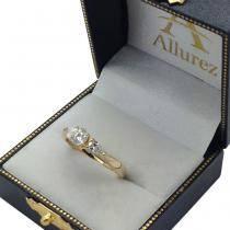 Three Stone Pear Shape Diamond Engagement Ring 14k Yellow Gold (0.50ct)