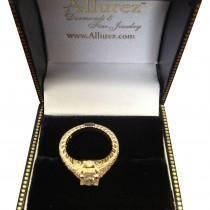 Antique Style Art Deco Diamond Engagement Ring 14K Yellow Gold (0.33ct)