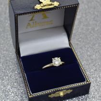 Four-Prong 14k Yellow Gold Solitaire Engagement Ring Setting