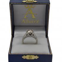 Antique Style Diamond Engagement Ring Setting Platinum (0.40ct)