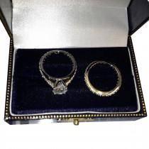 Petite Eternity Diamond Engagement Ring 14k White Gold (0.55ct)