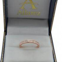 Channel Princess Cut Diamond Bridal Ring Set 14k Rose Gold (0.35ct)
