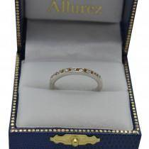 Petite Half-Eternity Diamond Wedding Band in 14k White Gold (0.17ct)