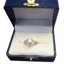 Halo Twist Diamond Bridal Set Ring & Band Platinum (0.28ct)
