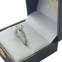 Diamond Twist Infinity Engagement Ring Setting 14K White Gold (0.40ct)