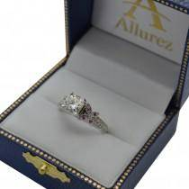 Butterfly Milgrain Diamond Engagement Ring 18k White Gold (0.25ct)