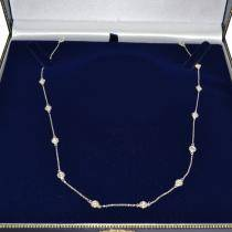 Diamonds by The Yard Bezel-Set Necklace in 14k White Gold (2.00 ctw)