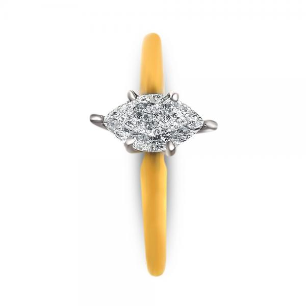 Marquise Diamond Solitaire Engagement Ring 14k Yellow Gold (0.62ct)