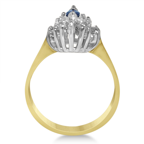Diamond Accented Sapphire Engagement Ring in 14k Yellow Gold (1.00ct)