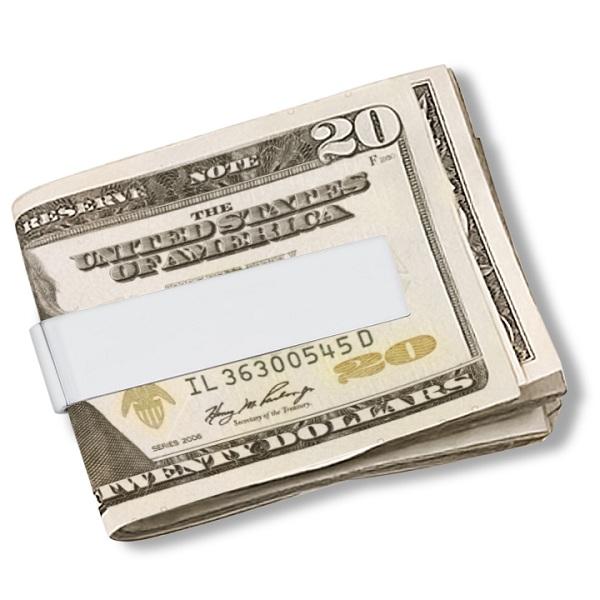 Modern Thin Money Clip For Men Sterling Silver