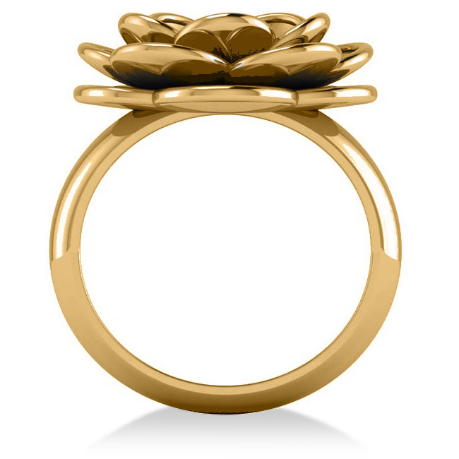Diamond Flower Fashion Ring 14k Yellow Gold (0.06ct)