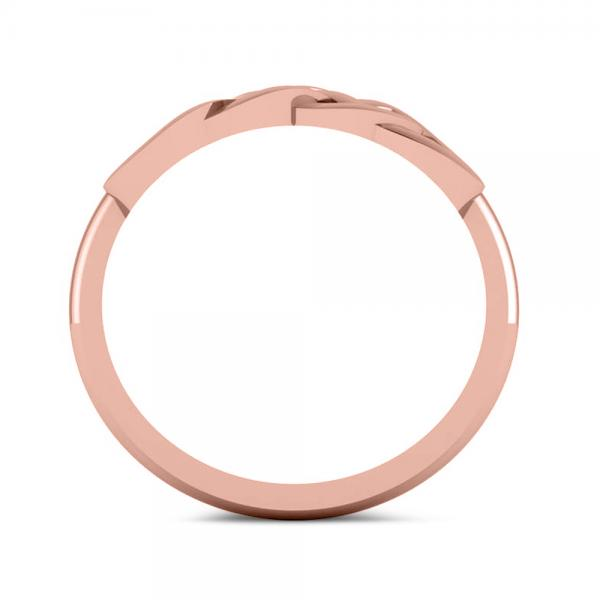 Double Infinity Fashion Ring in Plain Metal 14k Rose Gold