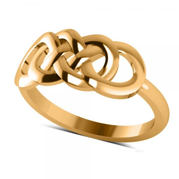 Double Infinity Fashion Ring in Plain Metal 14k Yellow Gold