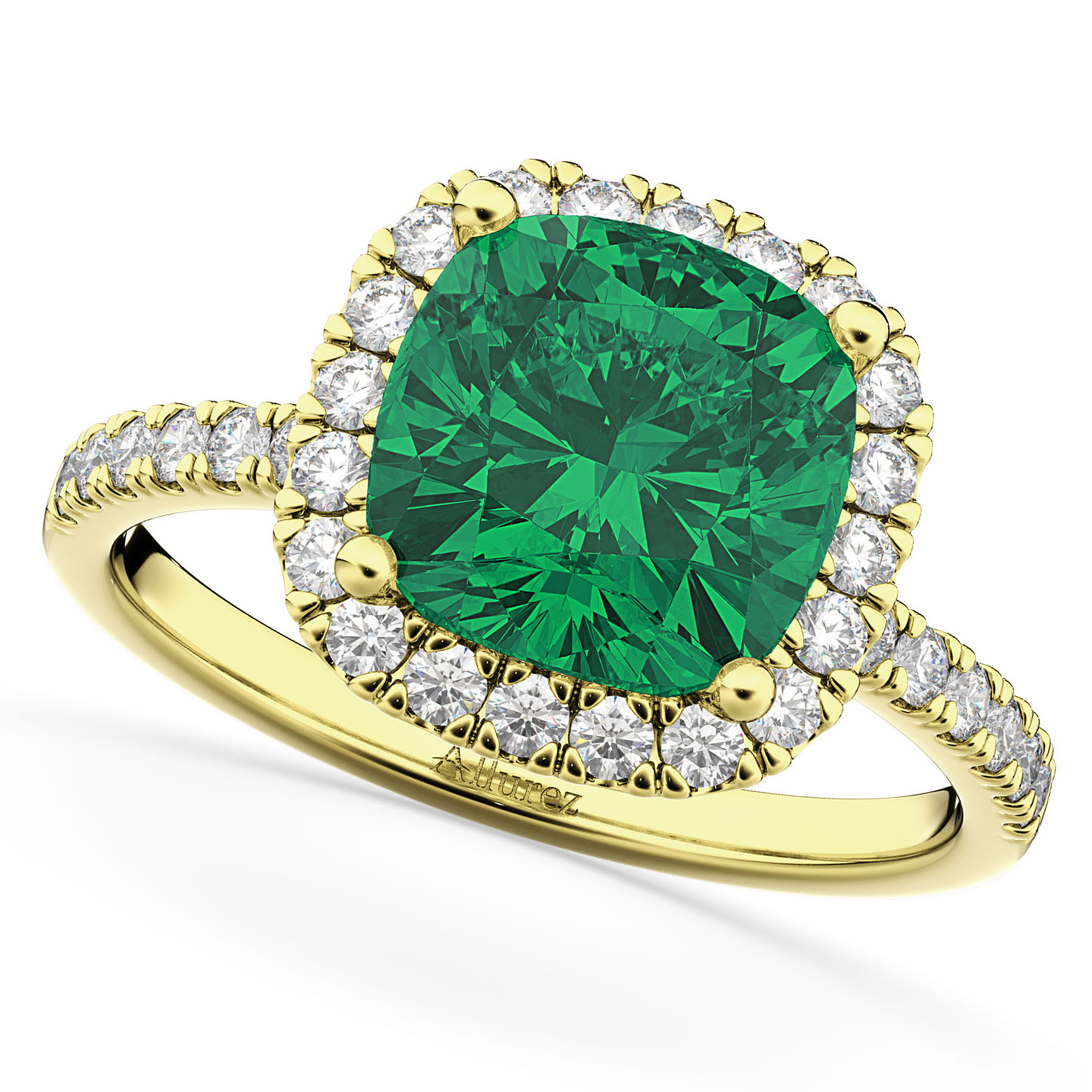 yellow co gold emerald from tacori rings ring diamond cut and tiffany engagement cushion