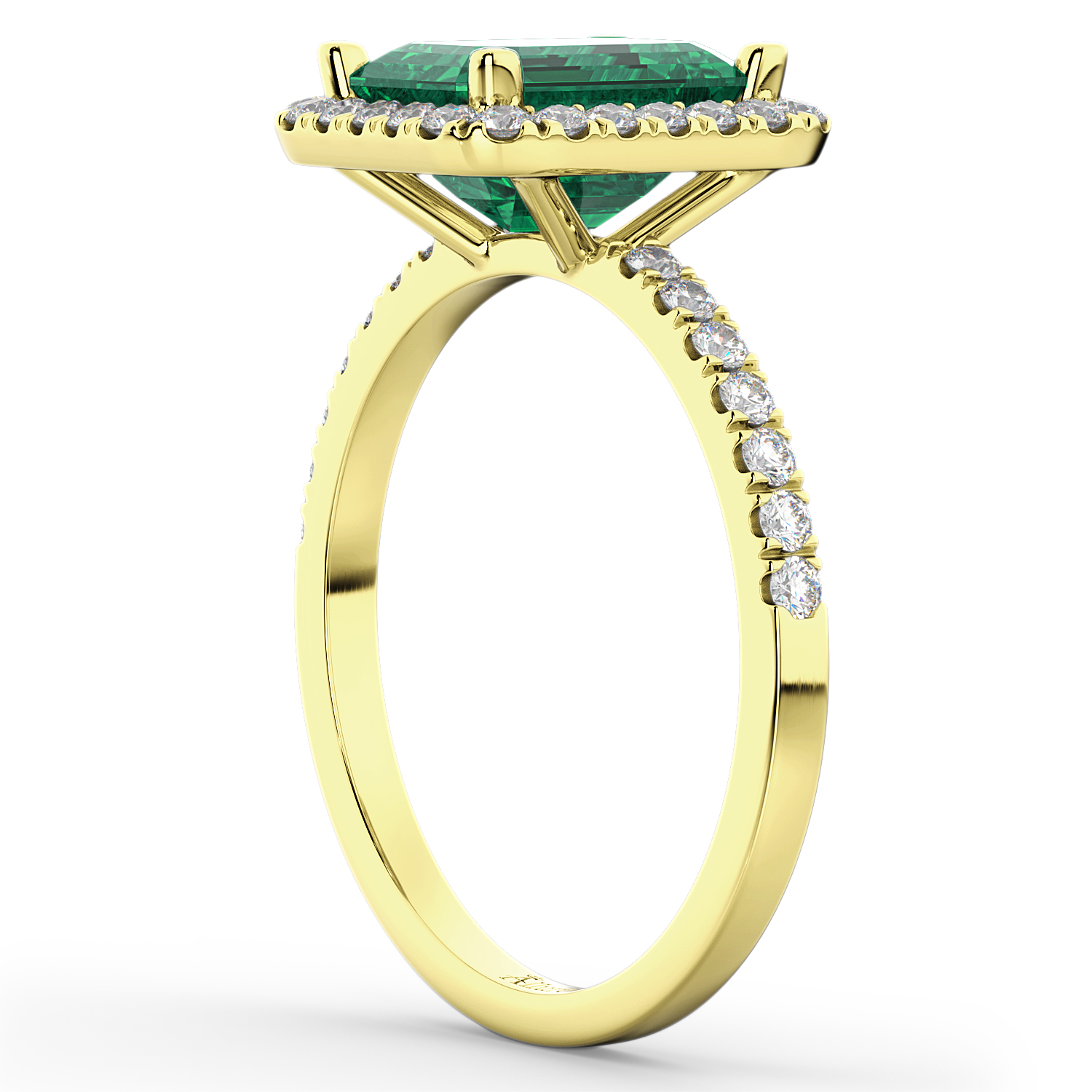 emerald engagement ring 18k yellow gold 3 32ct