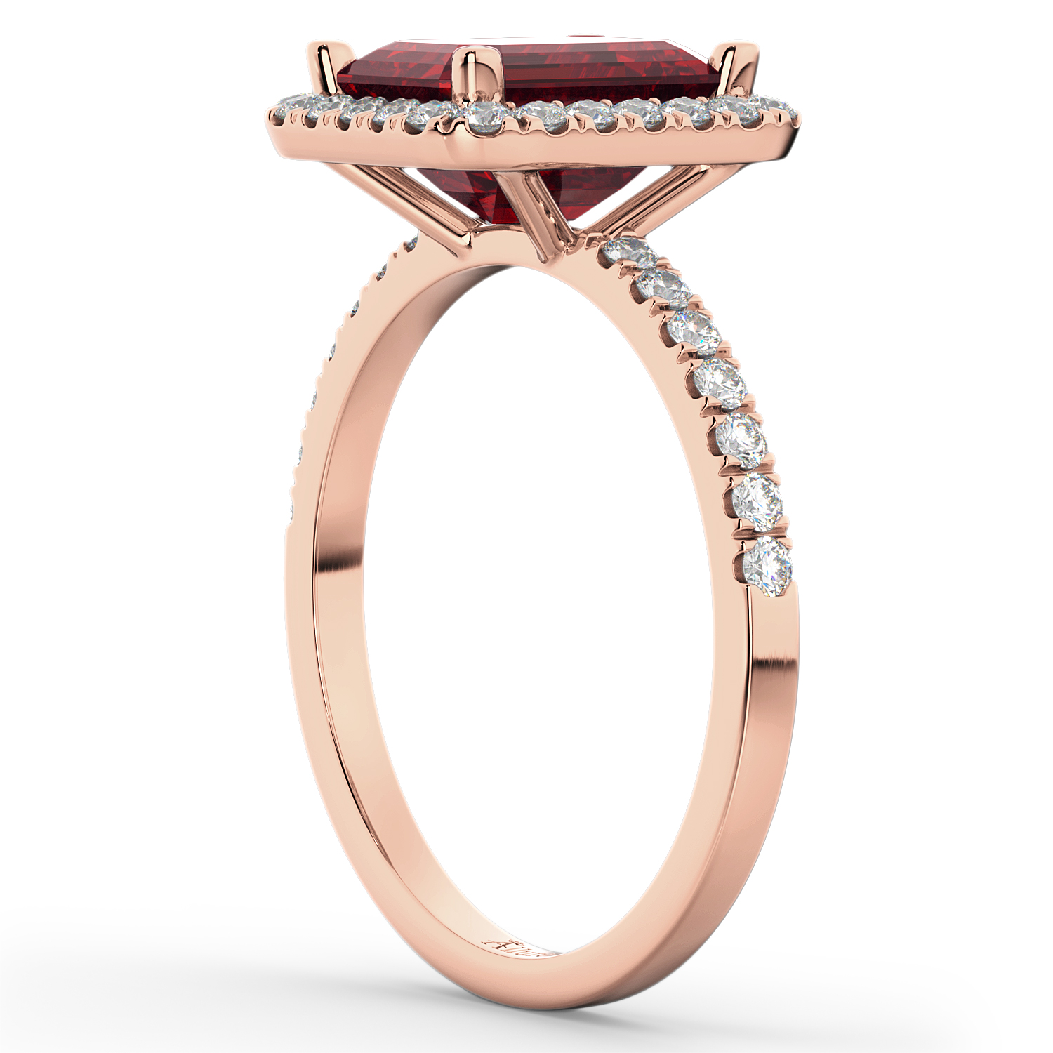 Ruby & Diamond Engagement Ring 14k Rose Gold (3.32ct)