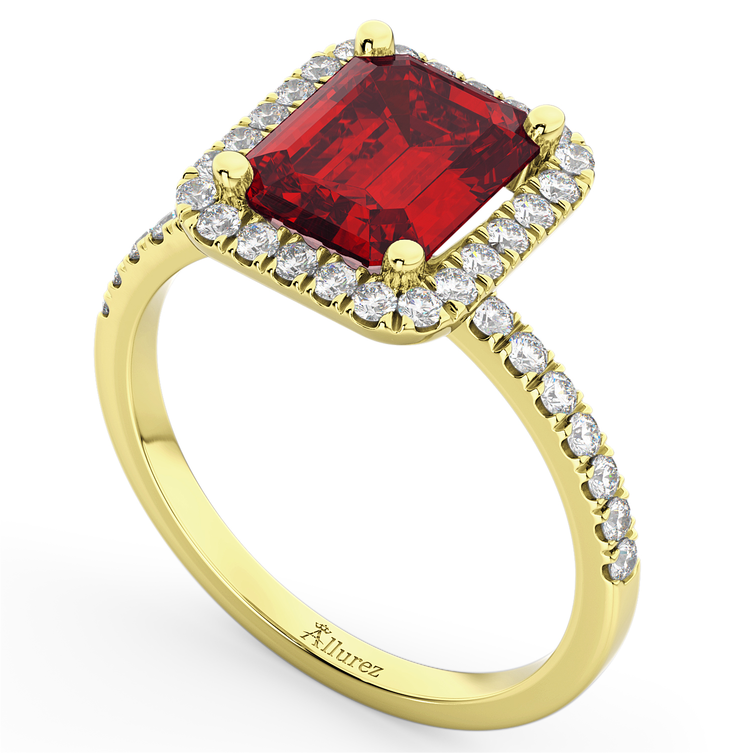 ruby engagement ring 14k yellow gold 3 32ct