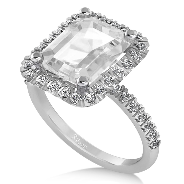white topaz diamond engagement ring 14k white gold 3. Black Bedroom Furniture Sets. Home Design Ideas