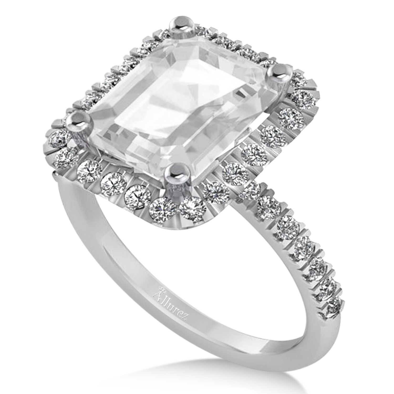 Ct White Gold Topaz Ring