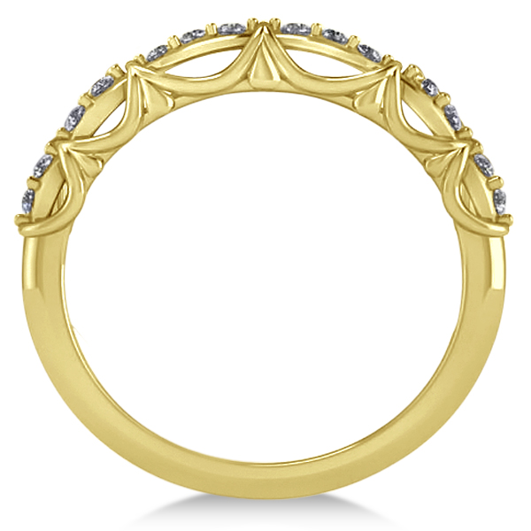 Diamond Semi Eternity Wedding Band in 14k Yellow Gold (0.21ct)