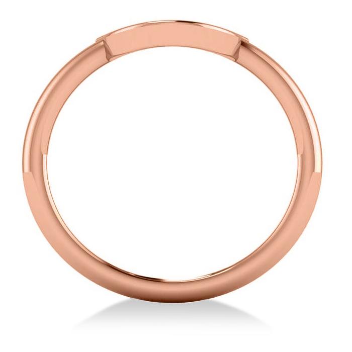 Centered Horseshoe Fashion Ring 14k Rose Gold