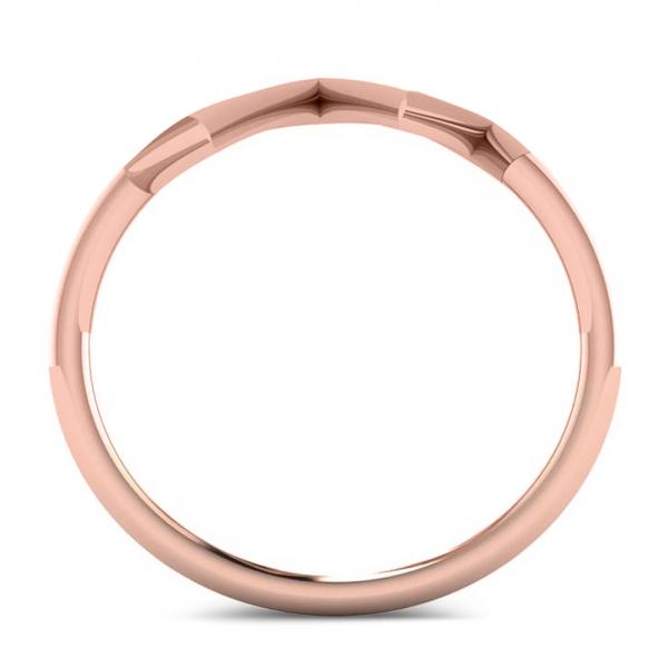 Heartbeat Pulse Vital Sign Fashion Ring Plain Metal 14k Rose Gold