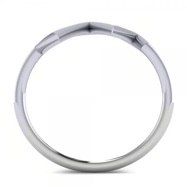Heartbeat Pulse Vital Sign Fashion Ring Plain Metal 14k White Gold