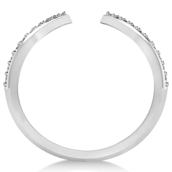 Abstract Designs Diamond Fashion Ring 14k White Gold (0.38ct)