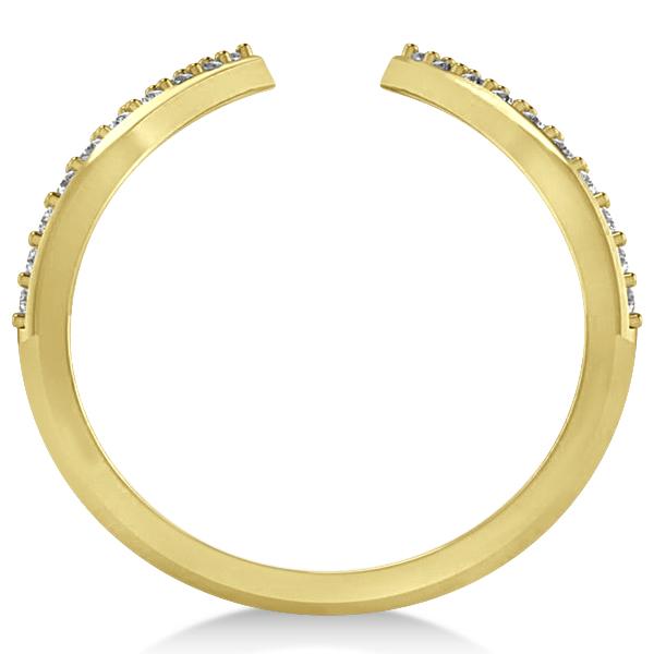 Abstract Designs Diamond Fashion Ring 14k Yellow Gold (0.38ct)