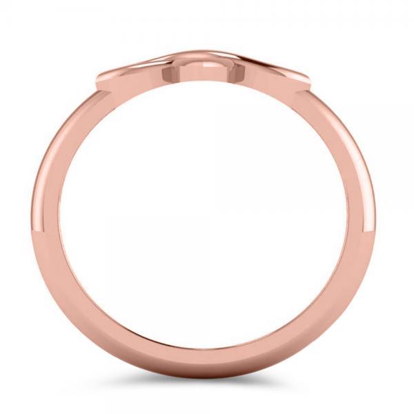 Irish Celtic Knot Cross Fashion Ring Plain Metal 14k Rose Gold
