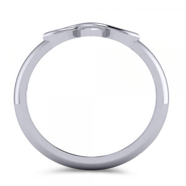 Irish Celtic Knot Cross Fashion Ring Plain Metal 14k White Gold