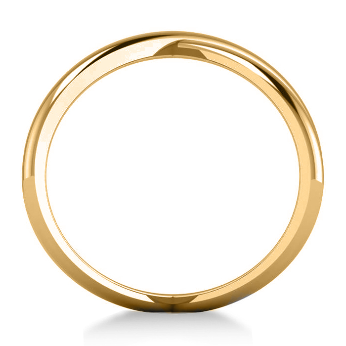 X Ring Unique Crisscross Fashion Ring Plain in 14k Yellow Gold