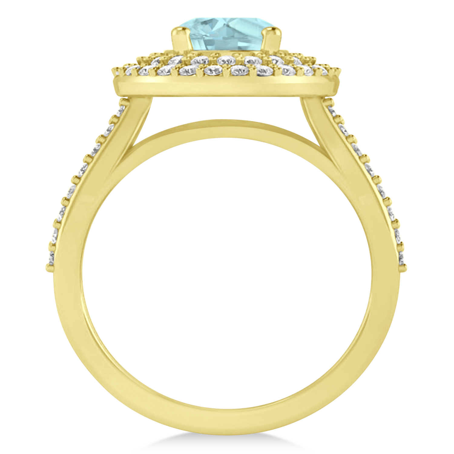 halo aquamarine engagement ring 14k yellow gold 2 27ct