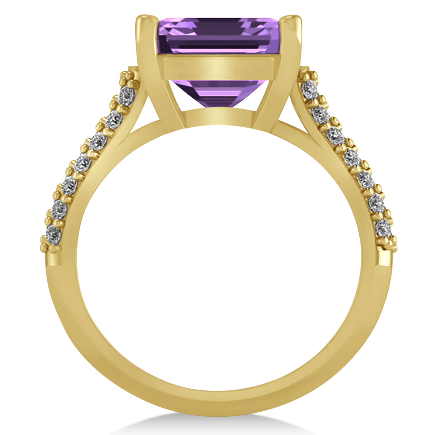 oval amethyst engagement ring 14k yellow gold 4 42ct